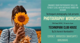 photography workshop in technopark trivandrum