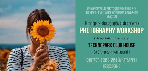 photography workshop in technopark trivandrum