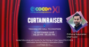 Curtain Raiser of c0c0n -XI by Prithviraj Sukumaran in Technopark !