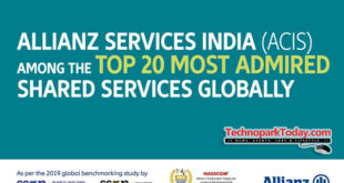 Allianz Services India being listed among 'Most Admired' Shared Services Organisations (SSOs) in the world