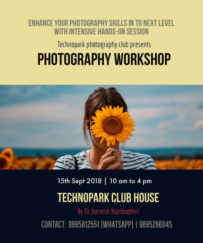 photography workshop technopark trivandrum